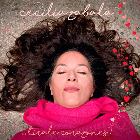 Portada del single «Tirale corazones» de Cecilia Zabala.