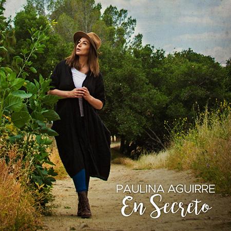 Portada del single «En secreto» de Paulina Aguirre.