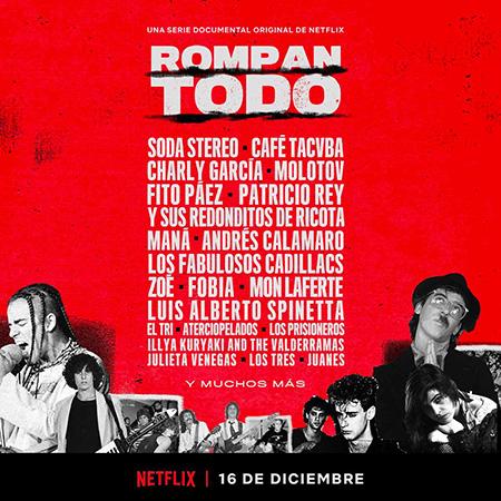 Estrenan «Rompan todo», la historia del rock en Latinoamérica.