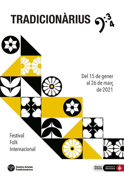 Cartel del XXXIV Festival Folk Internacional Tradicionàrius 2021.