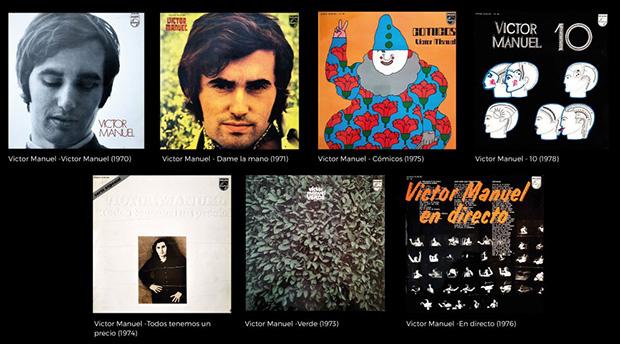 Víctor Manuel reedita sus discos de los años 70 con Philips en formato digital.