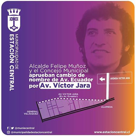 Víctor Jara tendrá una avenida en Santiago de Chile.
