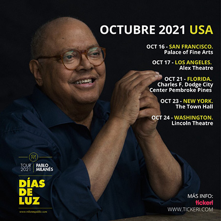 Pablo Milanés girará por Estados Unidos con «Días de Luz».