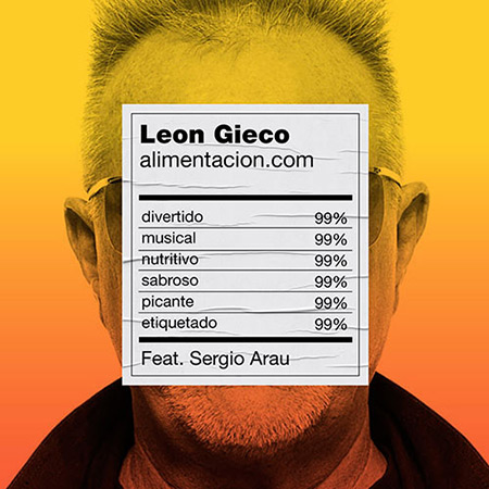 Portada del single «Alimentación.com» de León Gieco.