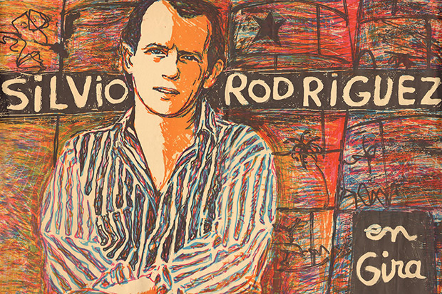 Cartel de la gira de Silvio Rodríguez con Diákara (Málaga 1991). © Archivo Alberto Montoya Alonso