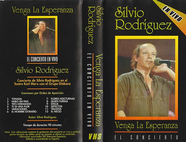 Portada del video VHS «Silvio Rodríguez-Venga la esperanza-El Concierto». © Archivo Alberto Montoya Alonso