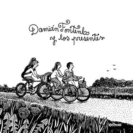 Portada del disco «Damián Fontenla y Los Presentes» de Damián Fontenla y Los Presentes.