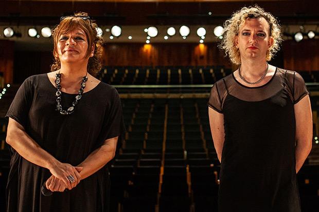 Susy Shock y Javiera impulsoras del cancionero. © Télam