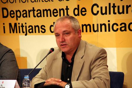 Lluís Puig en la rueda de prensa de presentación del MV'08. Xavier Pintanel © Prohibida su reproducción sin permiso del autor aun citando la procedencia