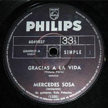 Gracias a la vida / Te recuerdo Amanda (Mercedes Sosa) [1969]