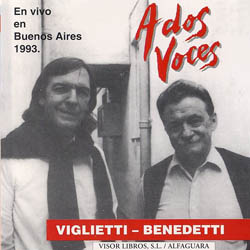 A dos voces (CD del libro) (Daniel Viglietti + Mario Benedetti) [1994]
