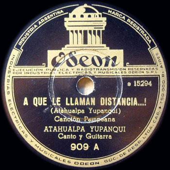 A qué le llaman distancia (Atahualpa Yupanqui) [1946]