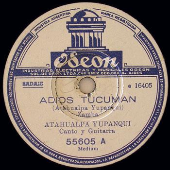 Adiós Tucumán (Atahualpa Yupanqui)