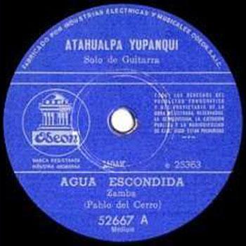 Agua escondida (Atahualpa Yupanqui)