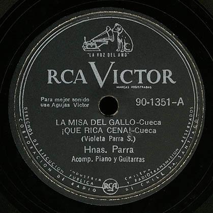 RCA Victor 90-1351 (Hermanas Parra) [1953]