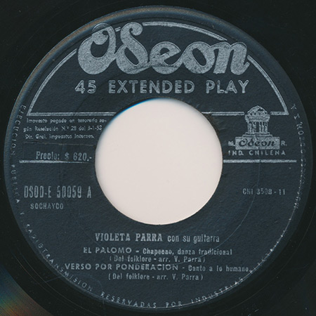 Odeón DSOD/E-50059 (EP) (Violeta Parra) [1955]