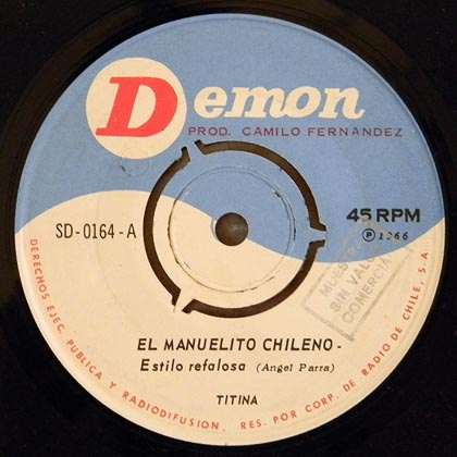 Demon SD-0164 (single) (Tita Parra) [1966]