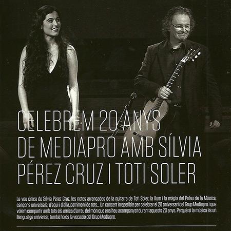 Celebrem 20 anys de Mediapro (Sílvia Pérez Cruz - Toti Soler) [2014]