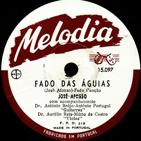 Fados de Coimbra (Melodia 15097) (José Afonso) [1953]