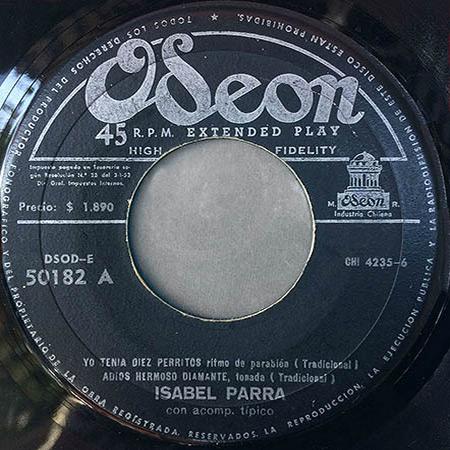 DSOD/E 50182 (EP) (Isabel Parra) [1958]